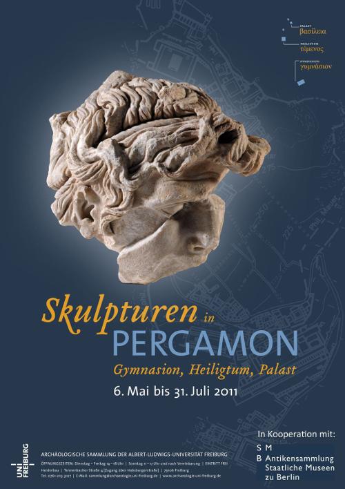 skulpturen in pergamon. gymnasium, heiligtum, palast